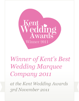 Winner of Kent's Best Wedding Marquee Company 2011