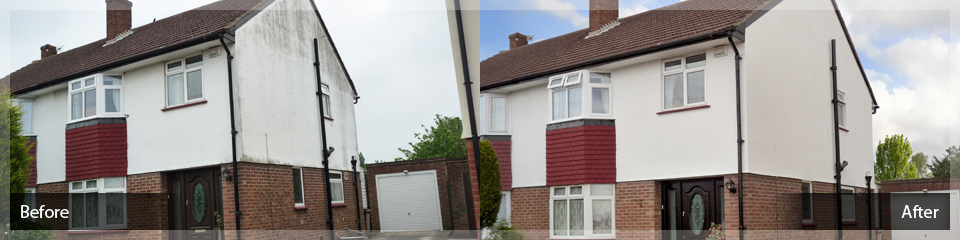 Exterior Rendering Services and Repairs - Before and After