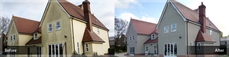 High Performance Exterior Wall Coatings - Before and After