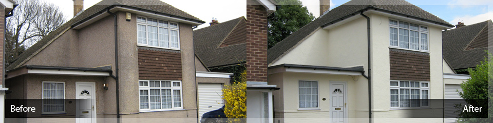 Monocouche and Coloured Rendering - Before and After