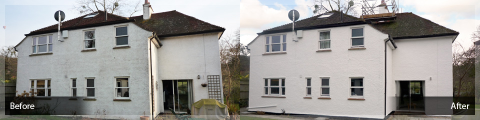 Weather Resistant Exterior Wall Coatings - Before and After